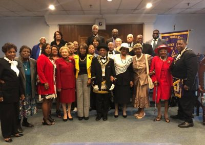 Most Worshipal Grand Lodge and Eastern Star Members following a joint meeting in LeCount Hall